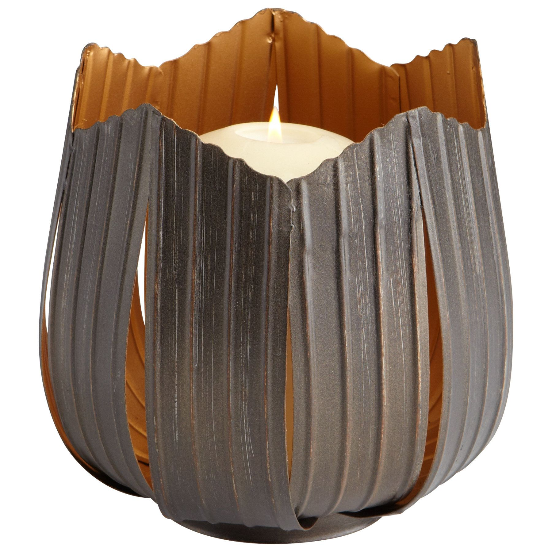 Variegated Flame Iron Votive