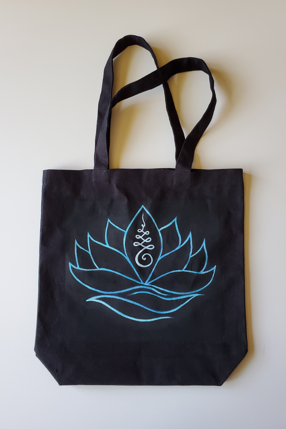 Hand Painted Canvas Tote light designs