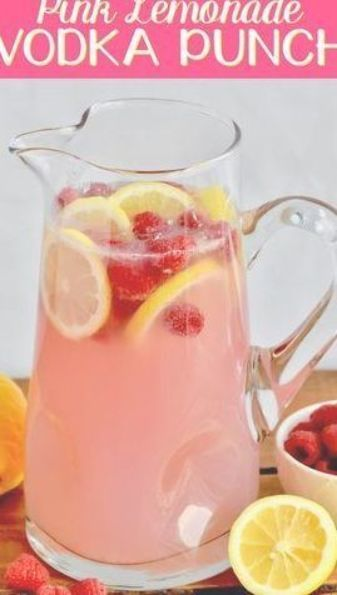 This Pink Lemonade Vodka Punch recipe is only three ingredients!! It is so easy and perfect for a party! #vodkapunch This Pink Lemonade Vodka Punch recipe is only three ingredients!! It is so easy and perfect for a party! #vodkapunch