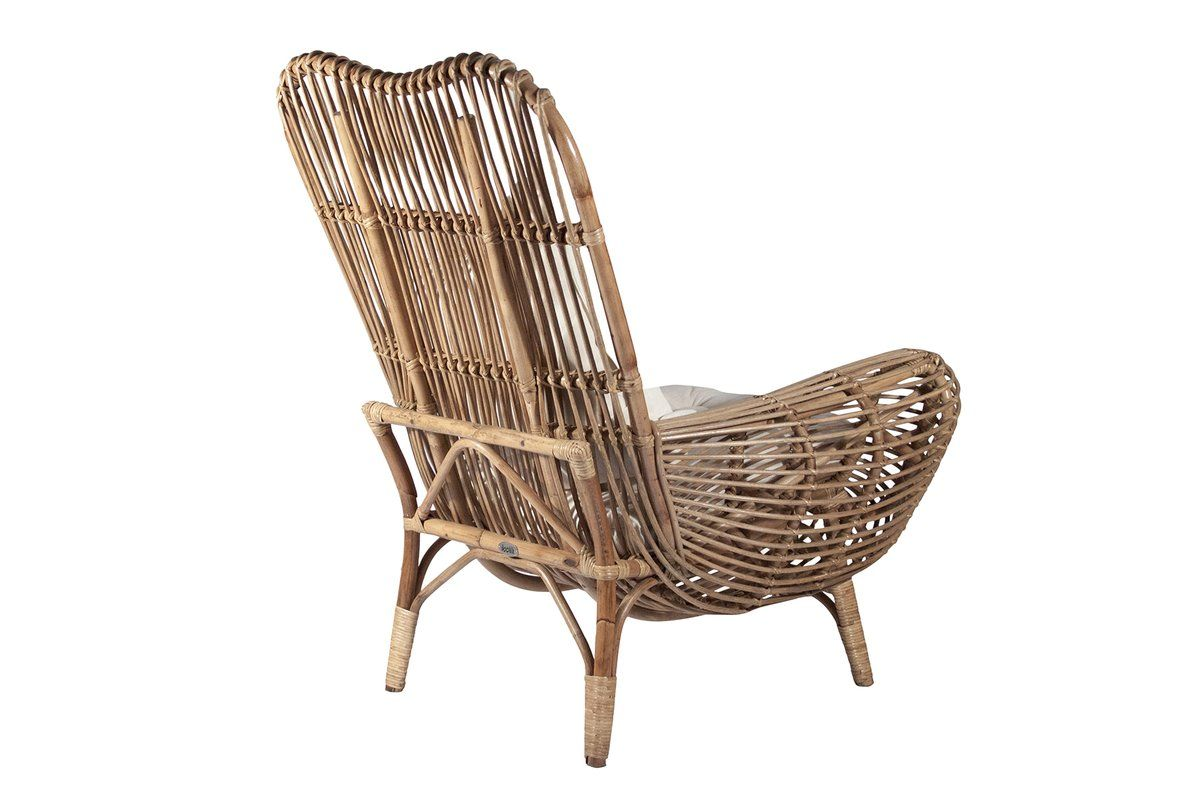 Round Back Rattan Patio Chair Lounge Chair Outdoor Rattan Chair