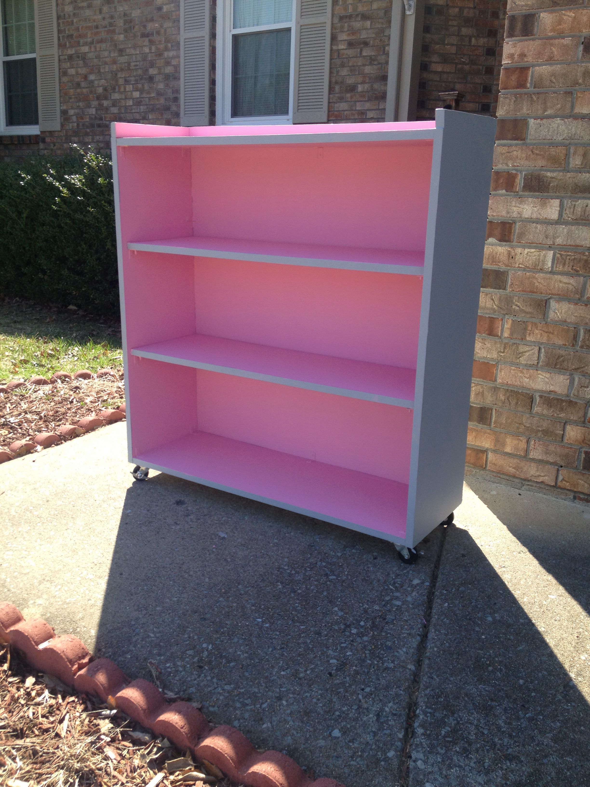 GLTC greenaway bookcase pink and grey girls room - A Baby ...  Pink And Grey Bookcase