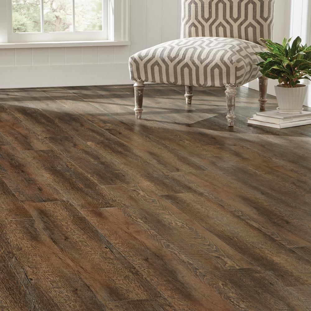 Plastic Flooring For Home: 7.5 In. X 47.6 In. Sawcut Pacific Luxury Vinyl Plank
