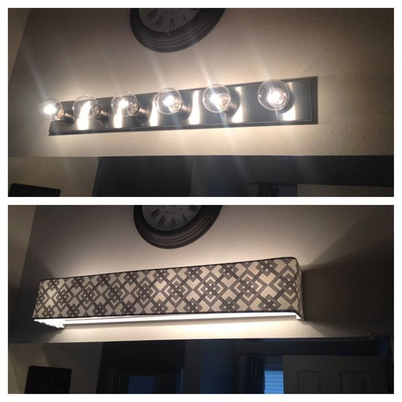 Vanity Light Cover Diy : Custom lamp shades - Fabric - Light Covers - Bathroom vanity lighting - News-or-Reviews New ...