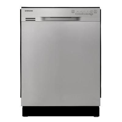 Samsung 24 In Front Control Dishwasher In Stainless Steel With Stainless Steel Tub 50 Dba Dw80j3020us The Home Depot Steel Tub Samsung Dishwasher Stainless Steel Dishwasher