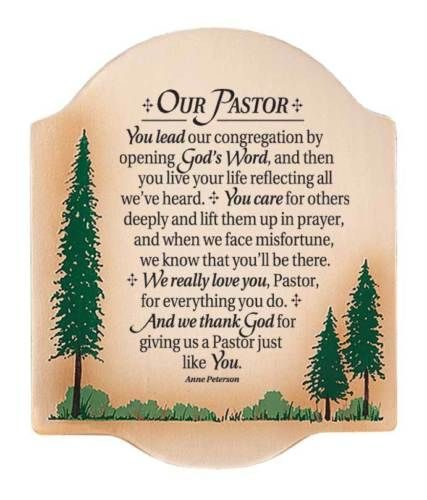 Thank You Quotes For Wife: Pastor-Preacher-Thank-You-Plaque-Sign-Wall-Art-Birthday