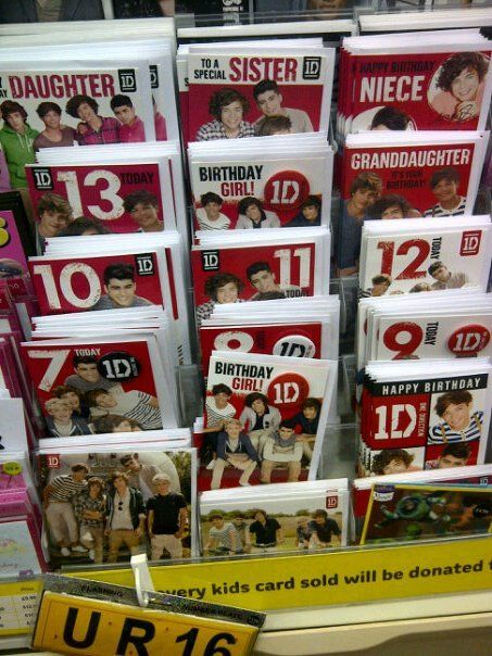1d Birthday Cards The Oldest One Is For A 13 Year Old Awkward
