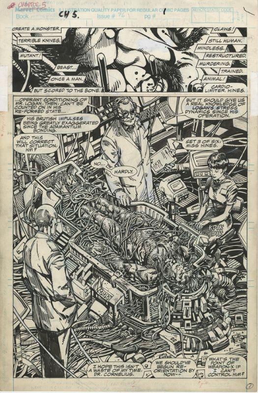 BWS Weapon X page Comic Art