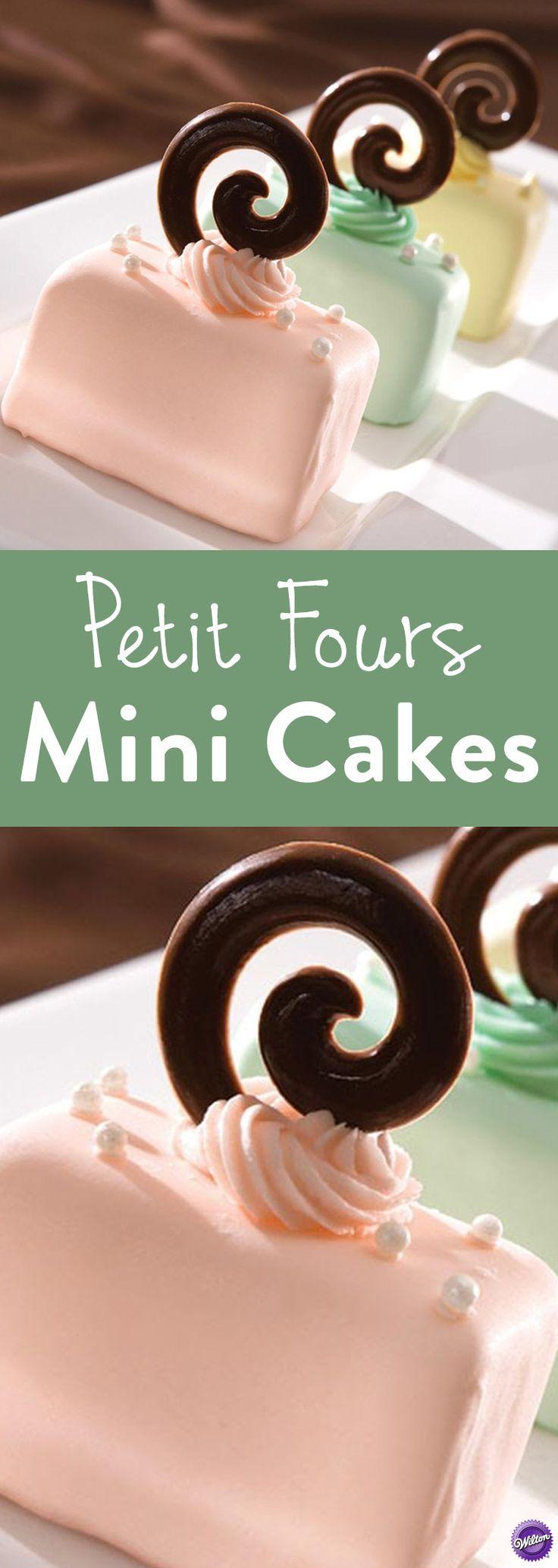 Petit Fours Mini Cakes Recipe Mini cakes, Desserts