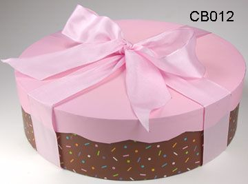 Decorative Round Cardboard Cake Box With Lid Packages Wrapping