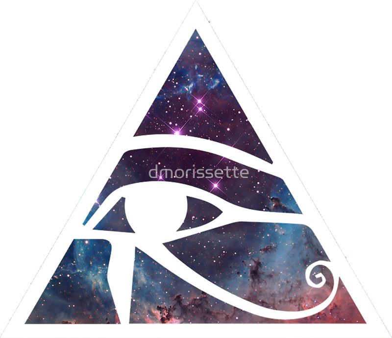Horus Eye Galaxy Sticker By Dmorissette Stickers Eyes Stickers