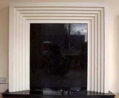 New Art Deco Stepped Plaster Fire Surround Fireplaces