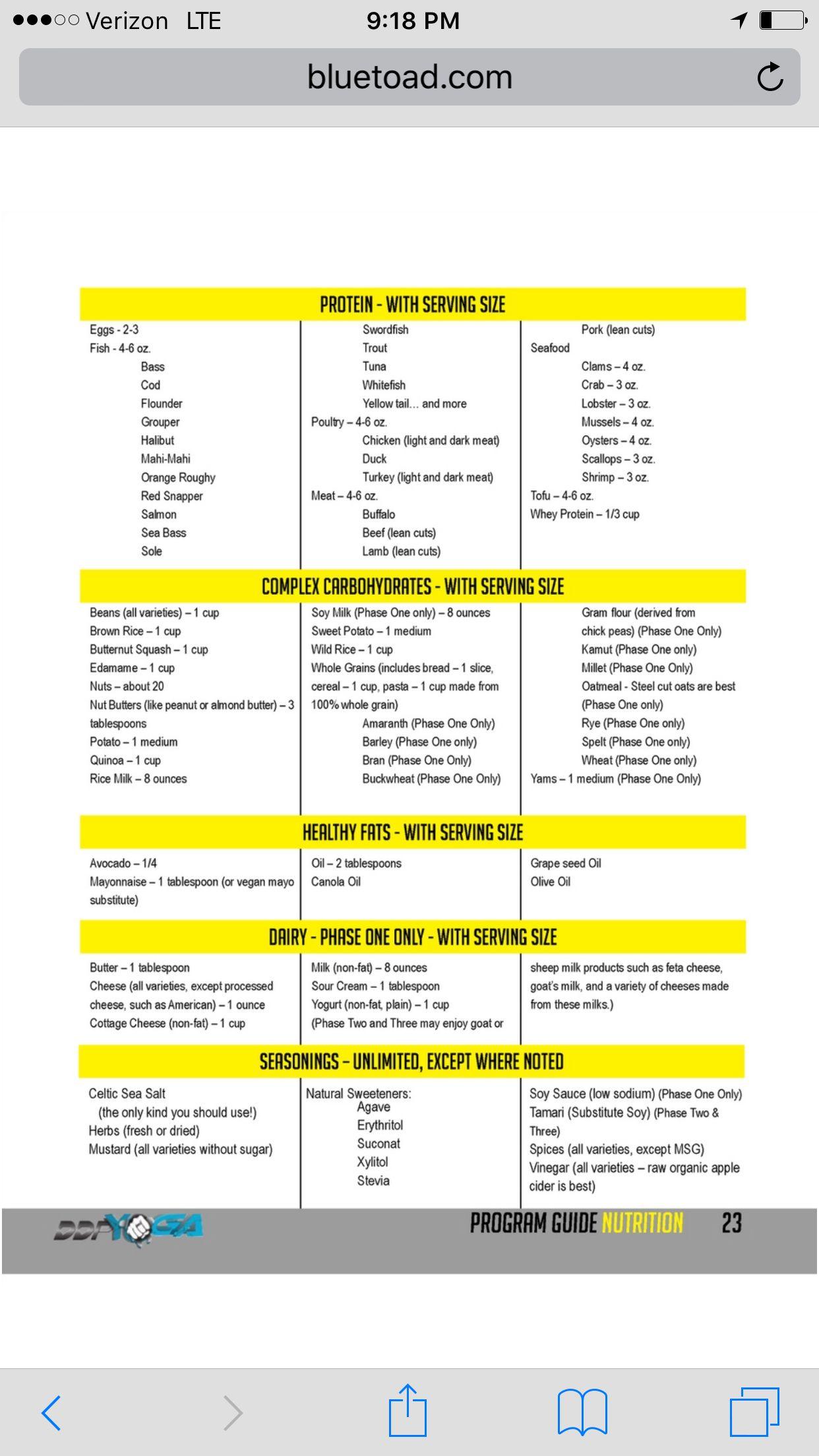 image regarding Ddp Yoga Schedule Printable identified as DDP diet plan DDP Yoga food plan, Nutritious diet program suggestions, Exercise diet regime