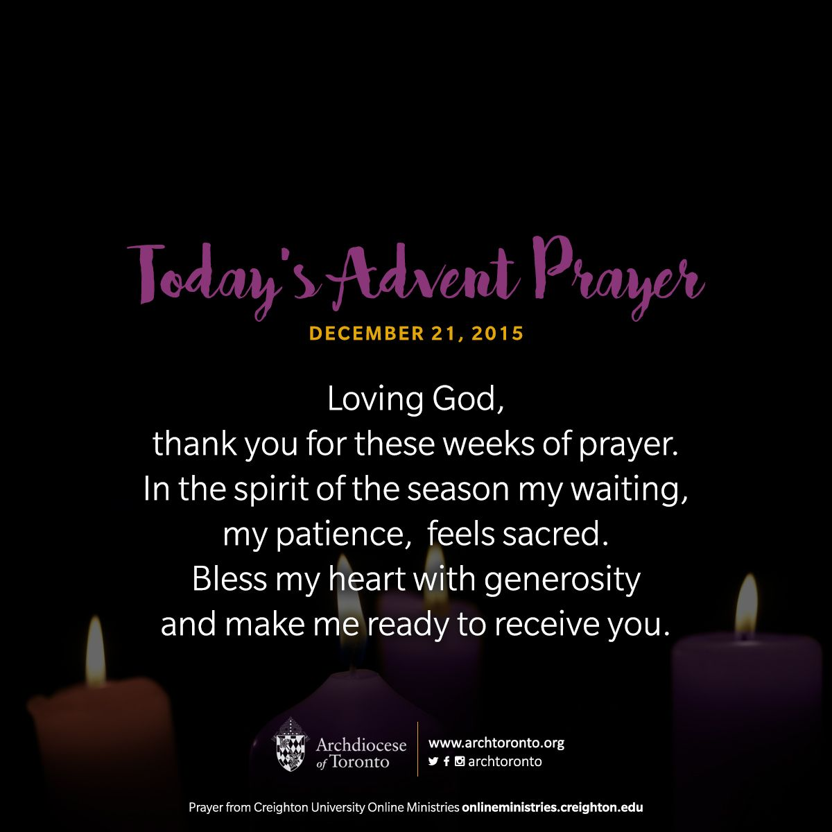 Today S Prayer Come Lord Jesus Come Http On Fb Me 1ykxhyq Adventto Advent Christmas Prayer Advent Prayers Advent Prayers Catholic Prayer For Today