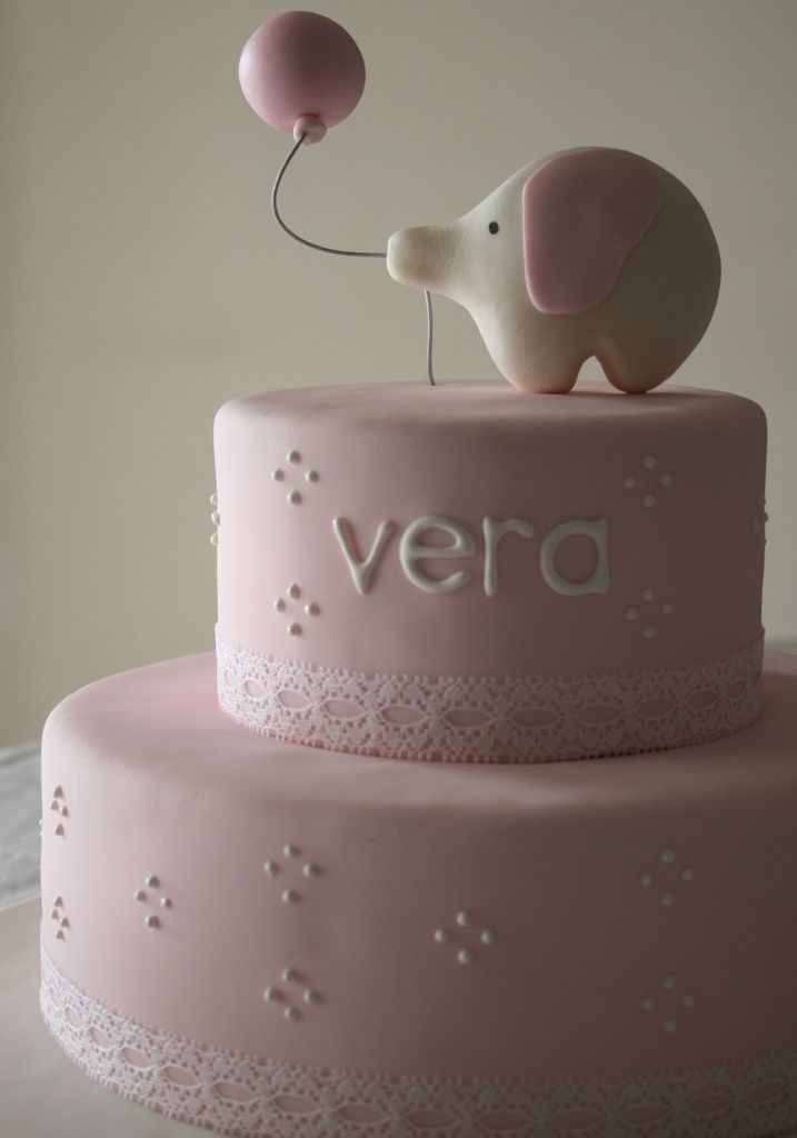Simple And Elegant Baby Birthday Cake