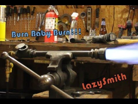 Easy To Make Propane Burner For Melting Metal At Home Or A Forge Youtube Forge Burner Propane Forge Homemade Forge
