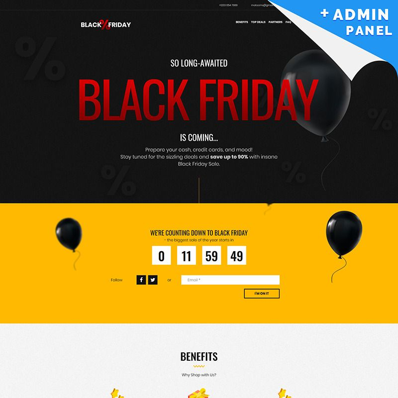 Getting Ready For Black Friday Here Is A Responsive One Page Black Friday Website Design That Allows Yo Black Friday Design Black Friday Black Friday Website