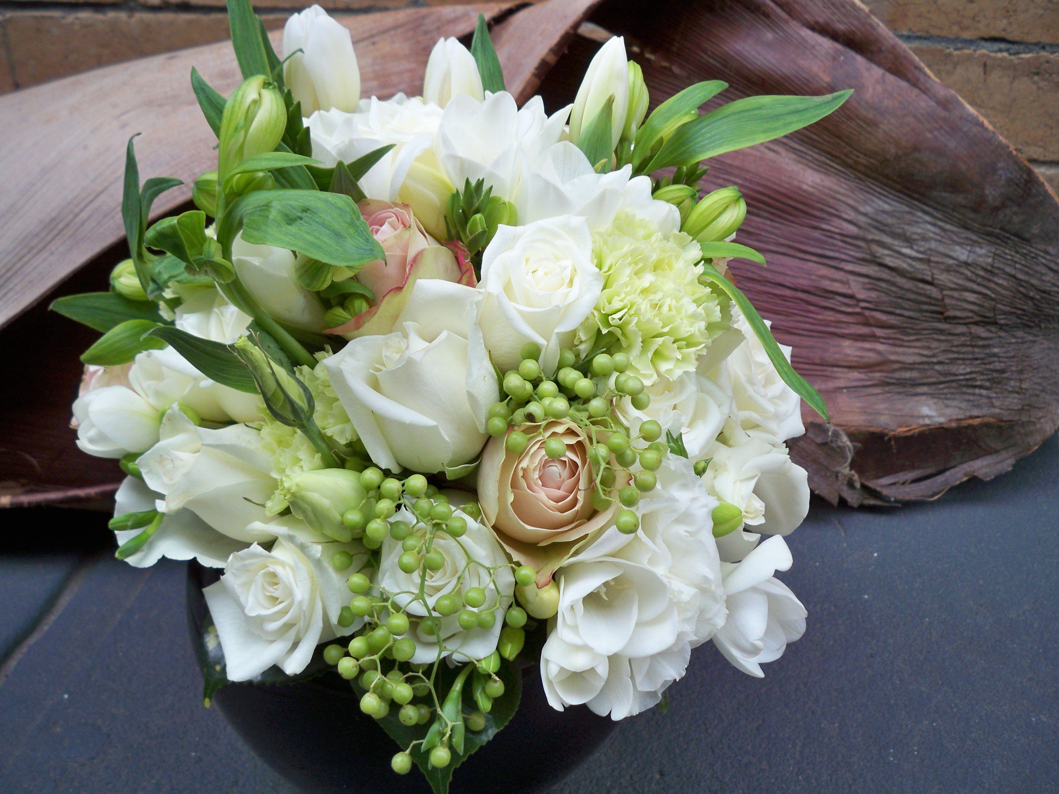 Brooke's bridal bouquet