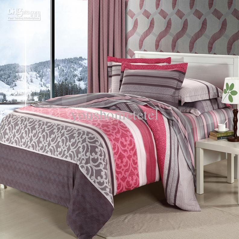 Wholesale Noble 100%cotton printed brush Bedding set 4 pc duvet cover set bedding set bed linen/Bedsheet/ comforter set /bed sheet/bed linen king size, $83.0/Piece | DHgate