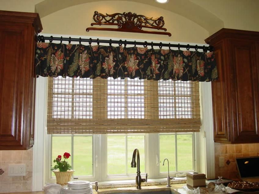 Simple Kitchen Valance gorgeous kitchen valance ideas simple kitchen valance ideas modern