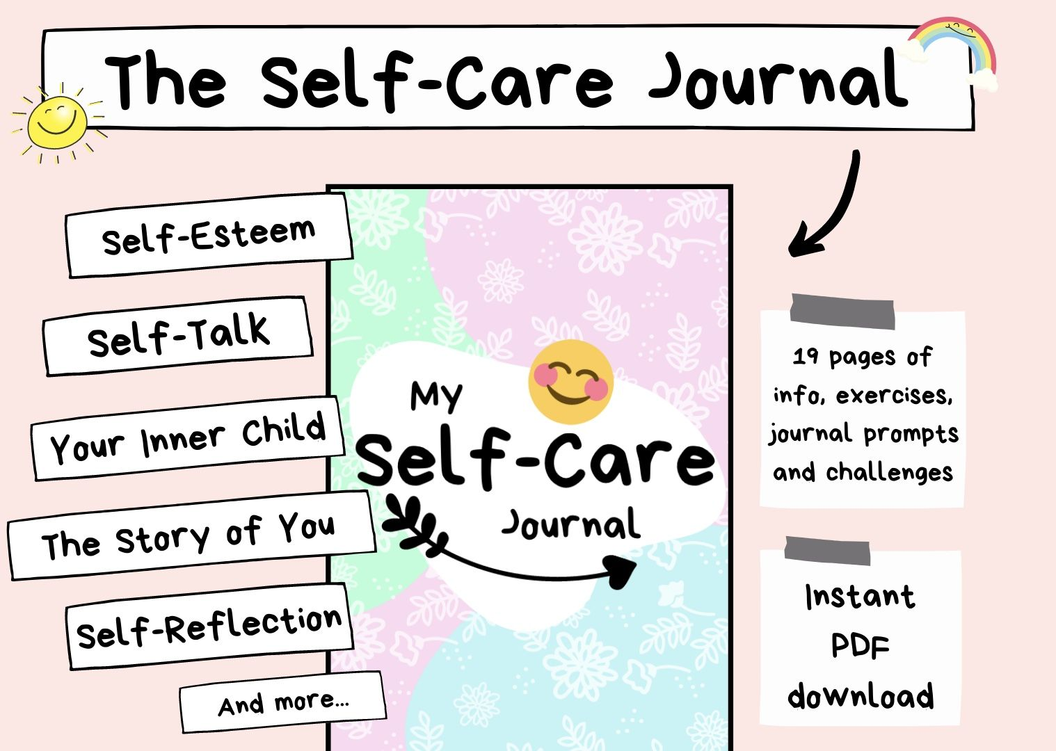 Self Care Journal For Self Care Kit