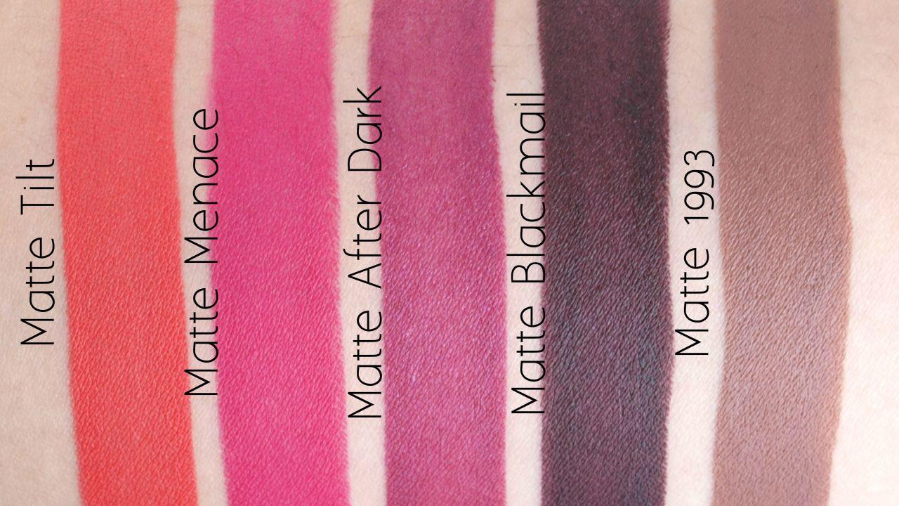 Urban Decay Matte Revolution Lipsticks Review and