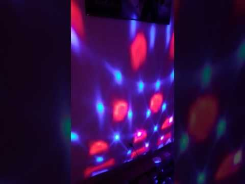 vnina disco ball party lights vnina 3 w 7 colors mini magic stage