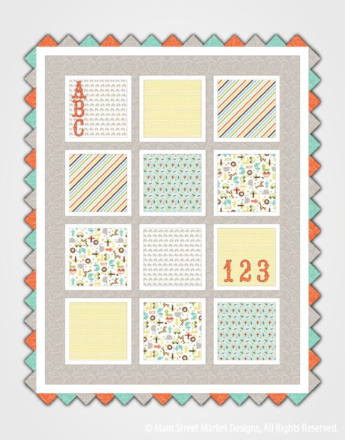 baby quilt pattern at Main Street Market Designs