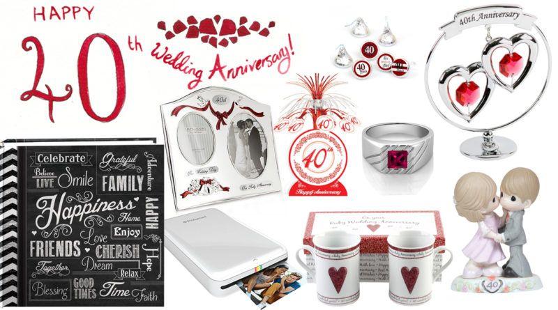 40th Wedding Anniversary Gift Ideas   Anniversary Gifts   Pinterest ...