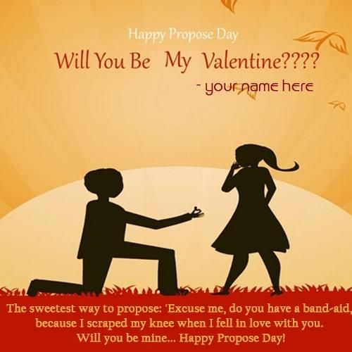 Boy Propose Cute Girl On Propose Day To Express Love To Impress