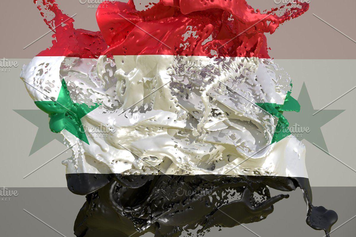 Syria Flag Liquid In 2020 Syria Flag Syria Country Flag