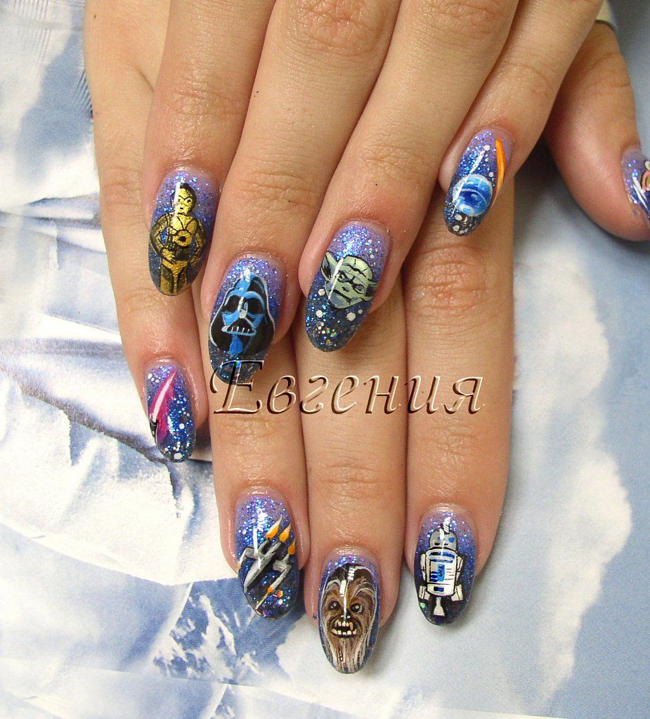 For a geek like me Star Wars nails are a must! nails