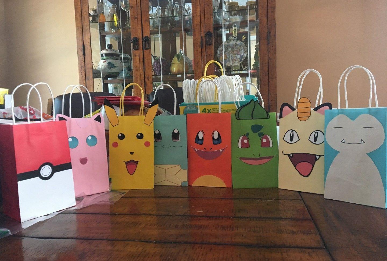 Pokemon Party Ideas Birthday Bags Favor Goody