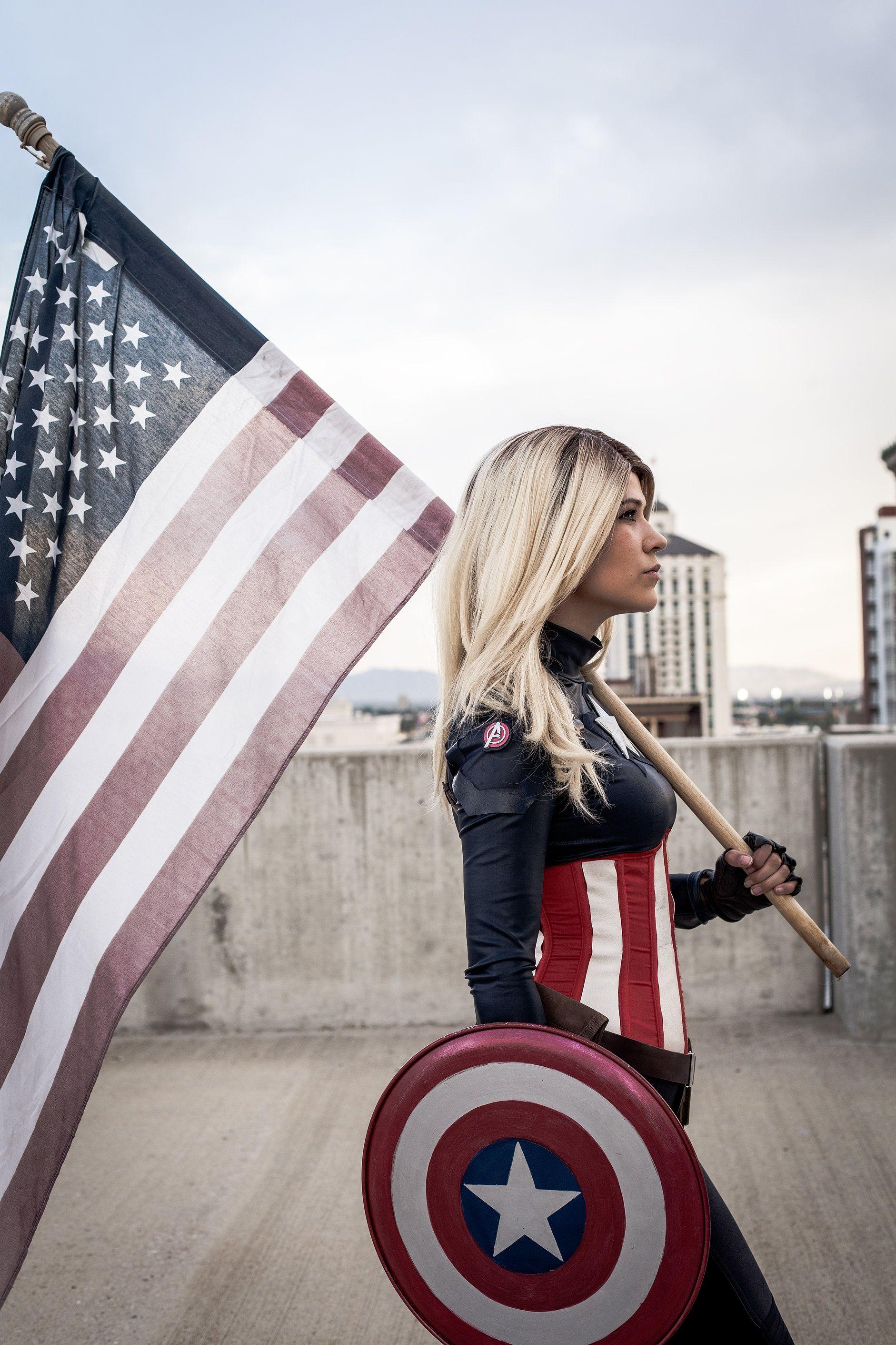 costume america cosplay Female captain