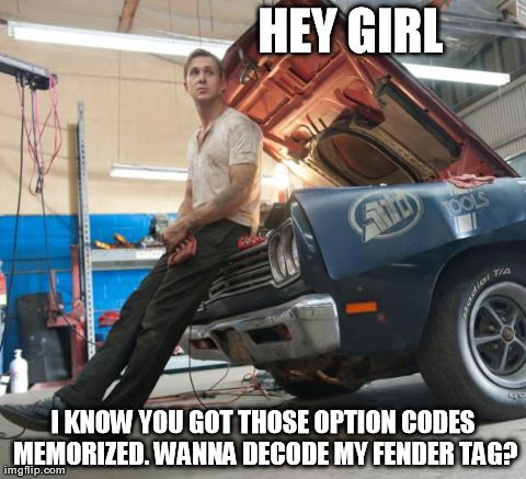 I had to laugh at this, he ain't my type... but if that Mopar is his, I can get on board.