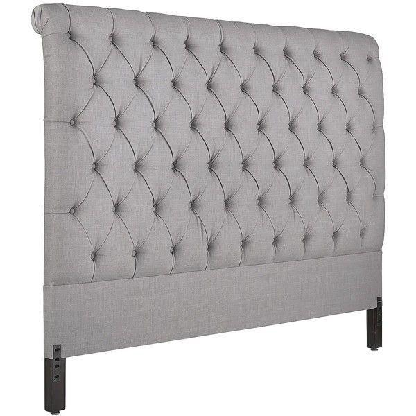 Pier 1 Imports Audrey King Headboard 885 Cad Liked On Polyvore Featuring Home Furniture Beds Pewter Tufted Bed Padded
