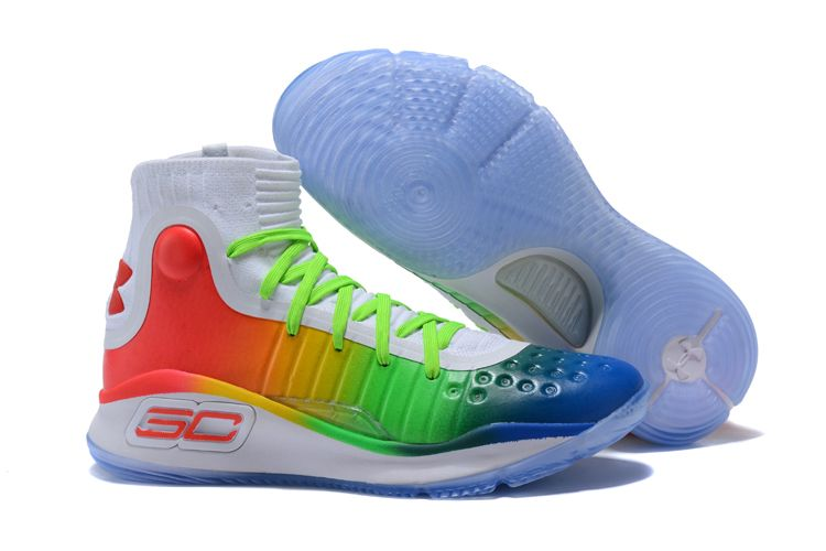 2017 Release Under Armour Curry 4 White Green Red Colorful Best