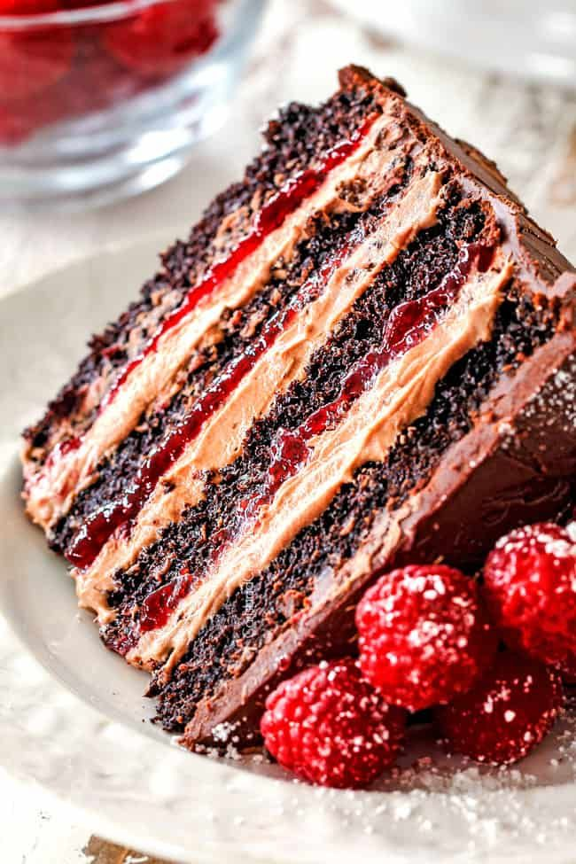Chocolate Raspberry Cake with Raspberry Jam, Choco