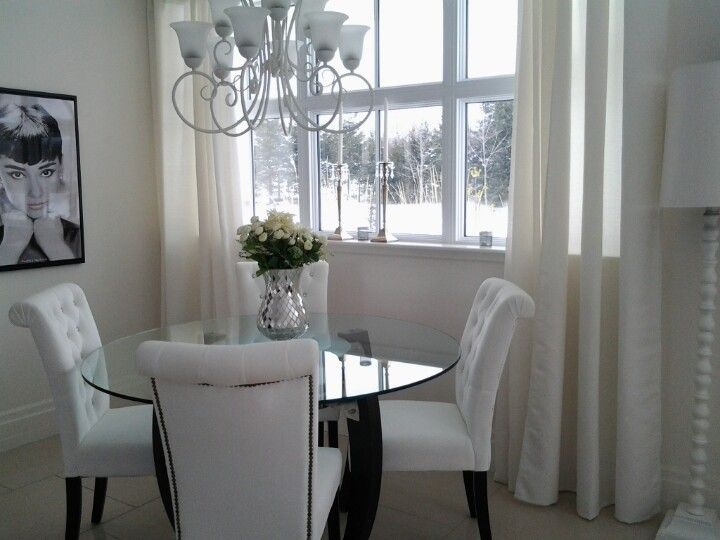 Dining room ideas Round table with glass top My chairs Home
