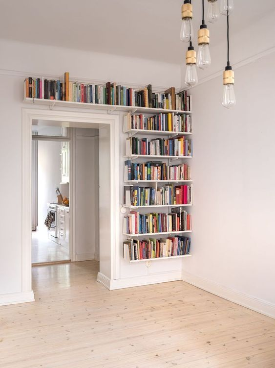 bookshelf ideas, DIY bookshelf decorating ideas, bookshelves for small space, unique bookshelves #houseinterior