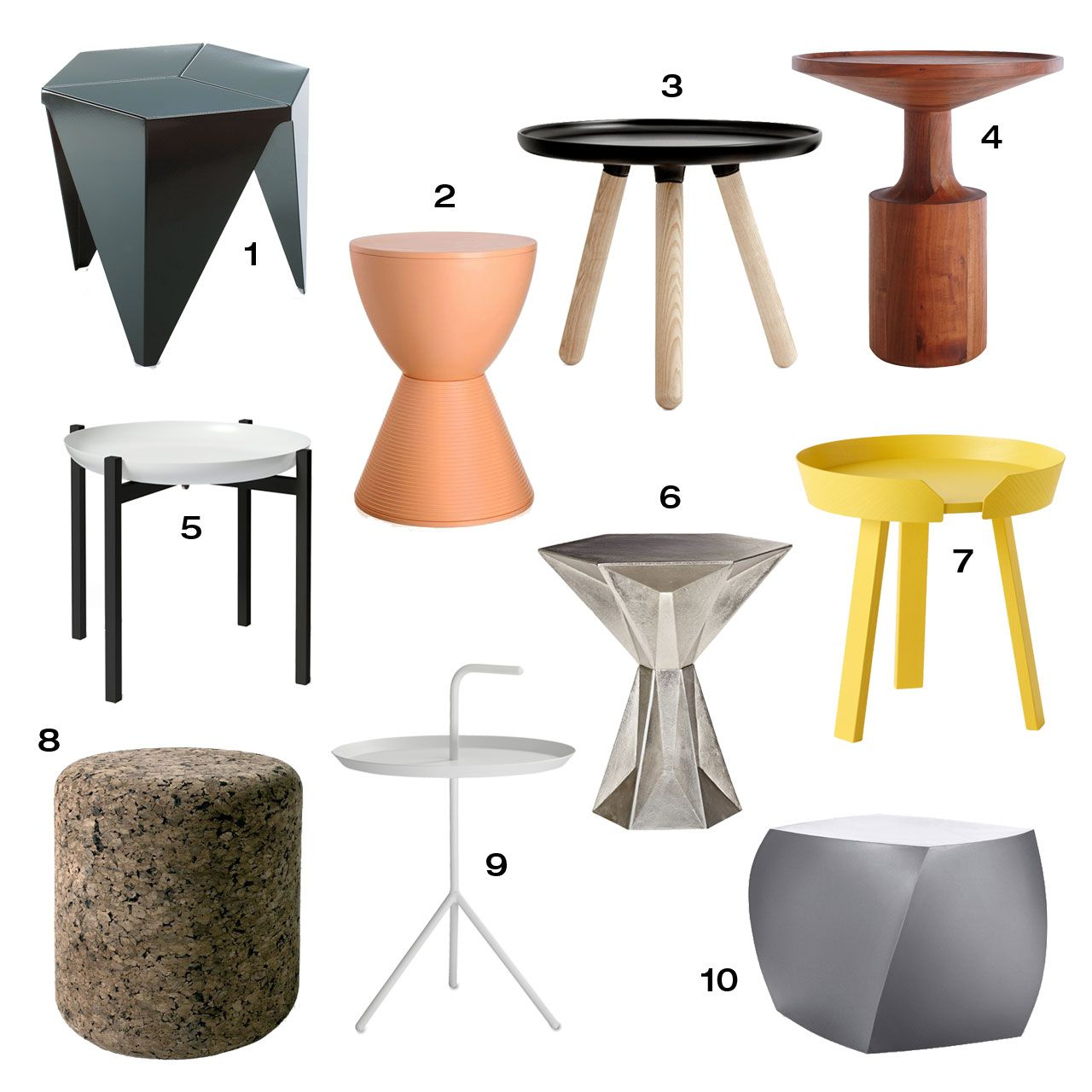 Roundup 10 Modern Side Tables Modern Side Table Design Modern Side Table Side Table Design