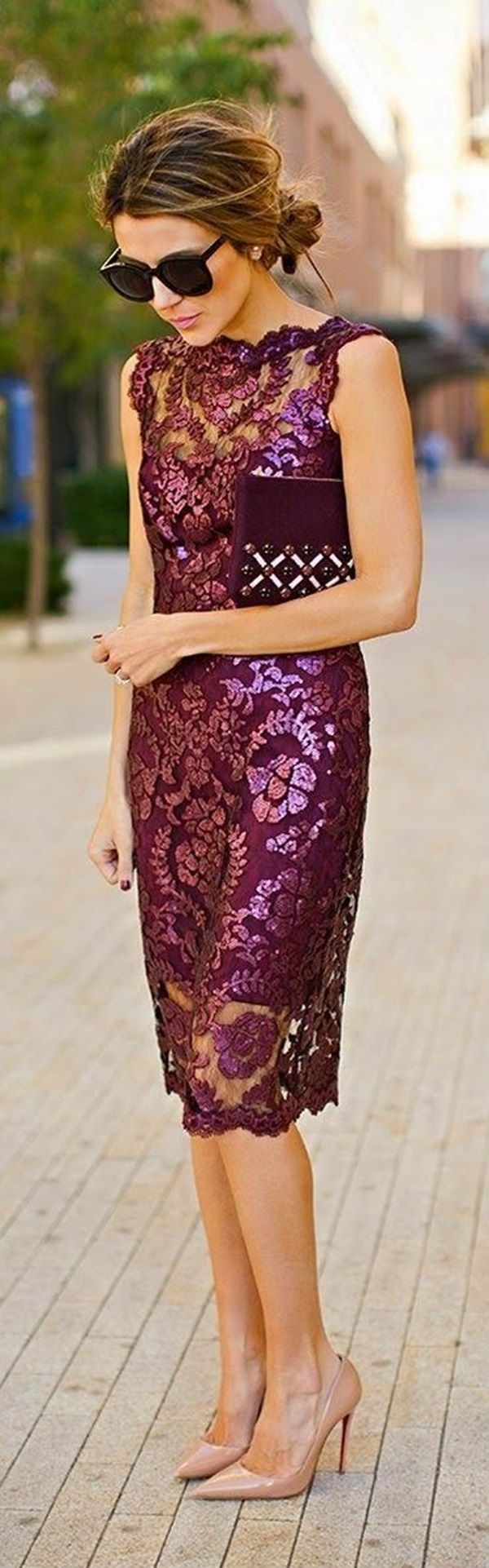 Purple dresses to wear to a wedding  love this dress but not the neckline  Clothes  Pinterest  Real