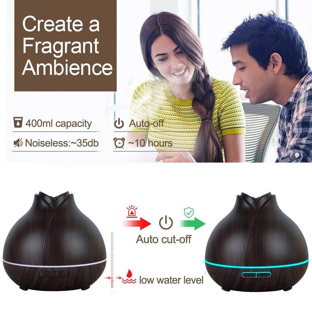 400ml Aroma Essential Oil Diffuser Ultrasonic Air