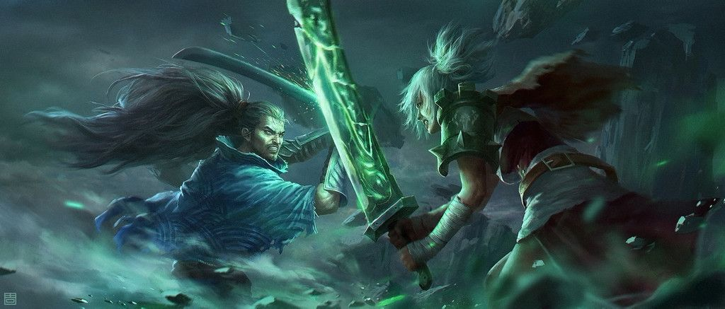Riven Yasuo League Of Legends Online Game Fight