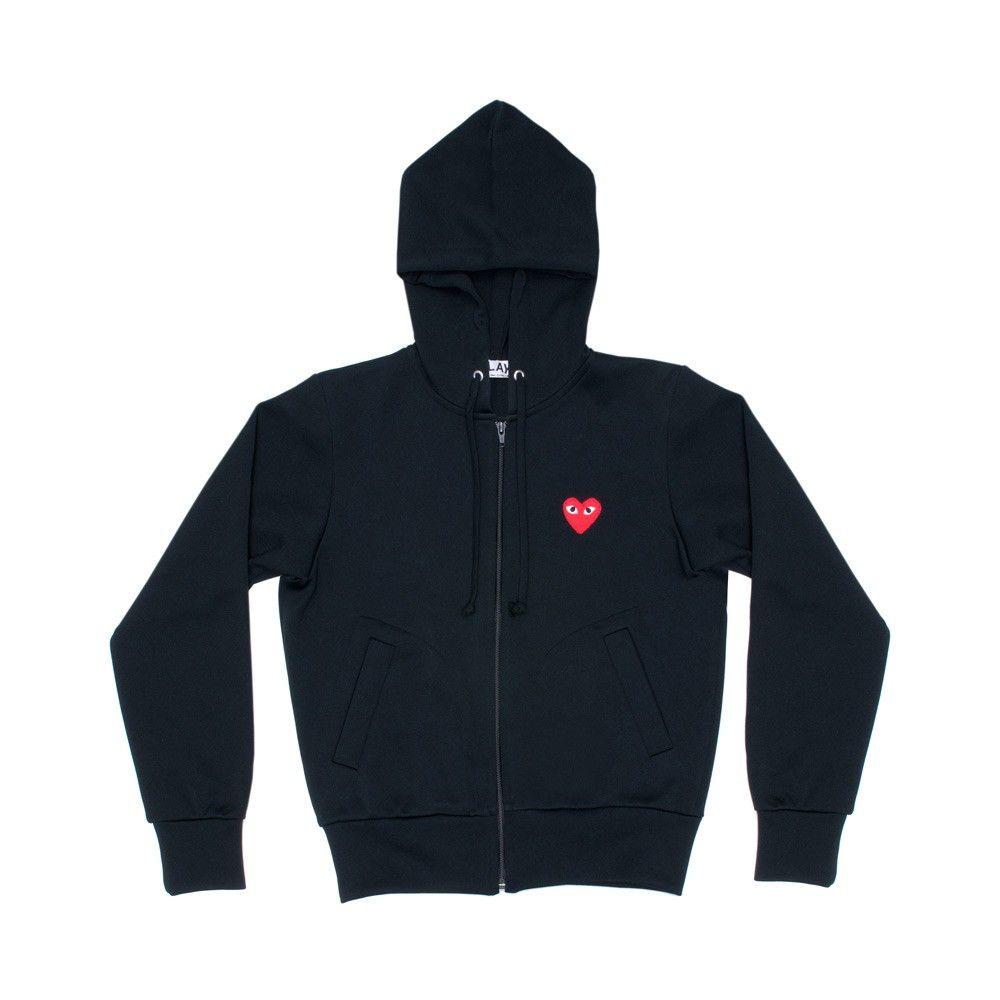 Cdg Play Sweatshirt Black T171 Sweatshirts Play Comme Des Garcons