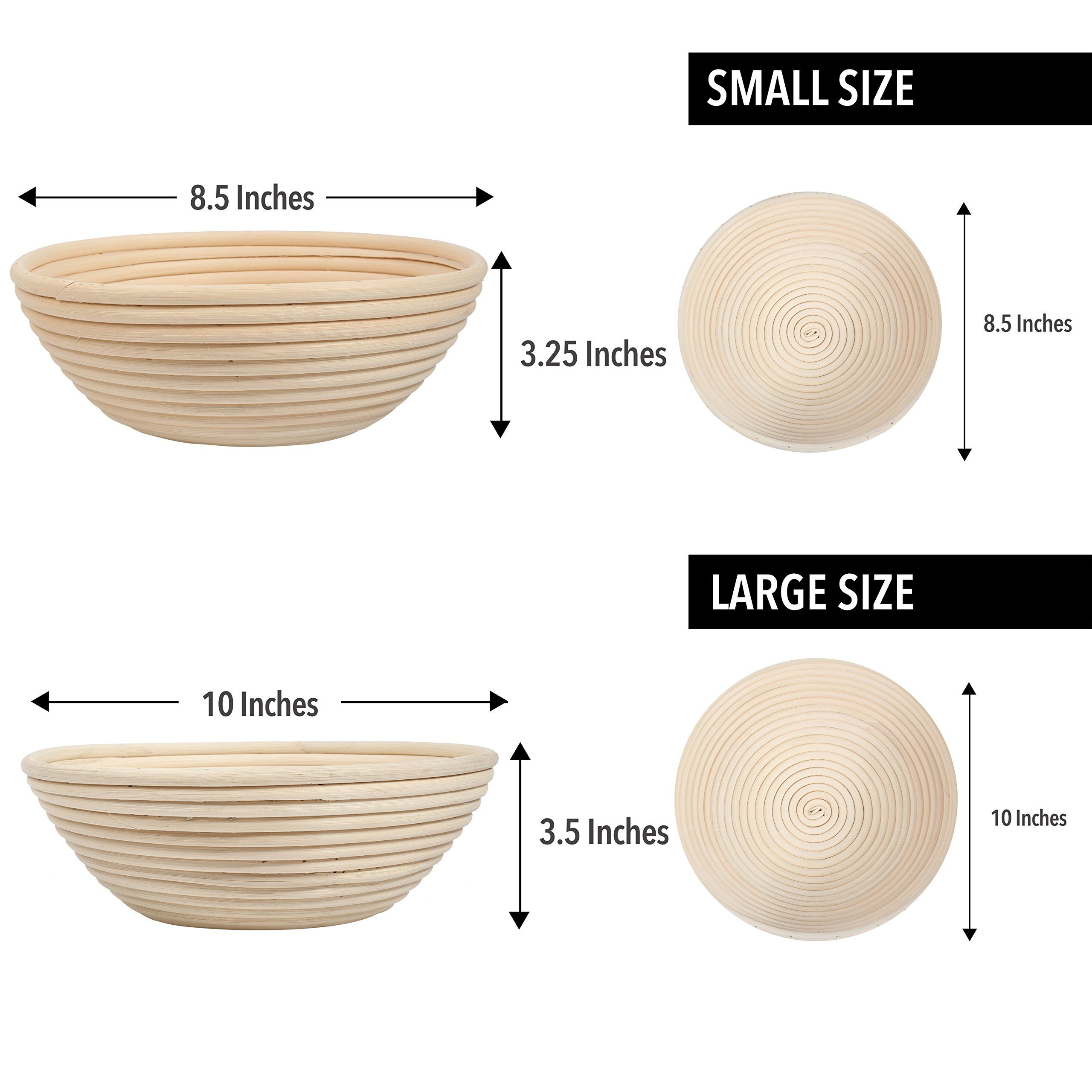 "8.5/"" Oval Artisan Banneton Brotform Bread Dough Proofing Rattan Bakeware Basket"