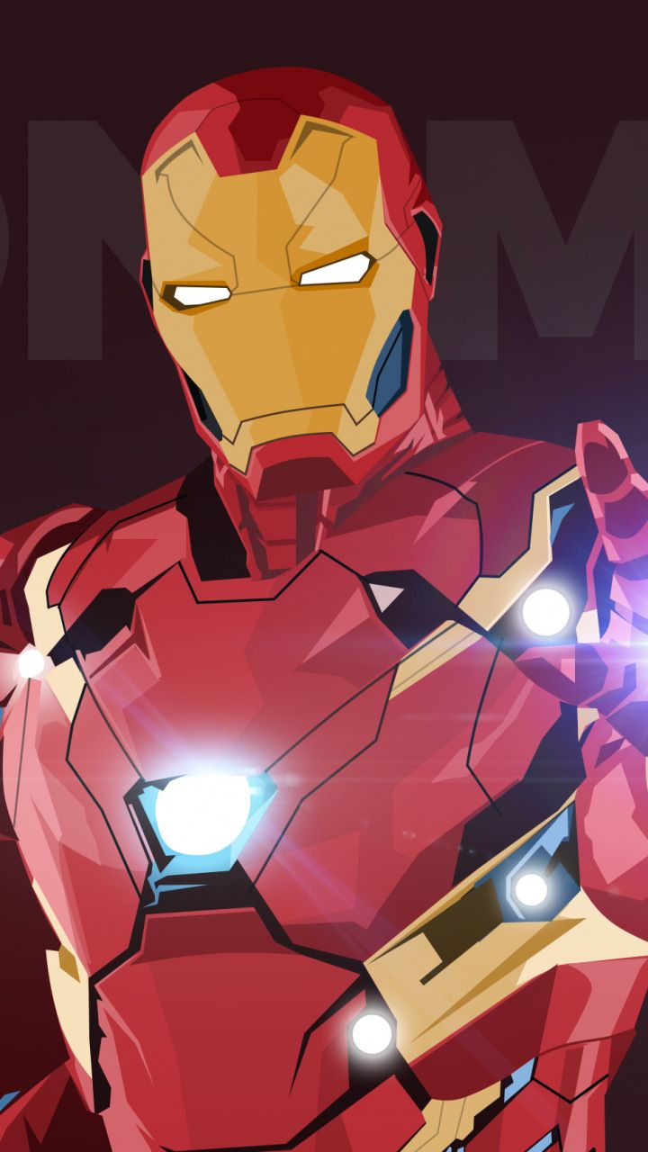 Iron man digital art minimal superhero 720x1280 - Iron man wallpaper anime ...