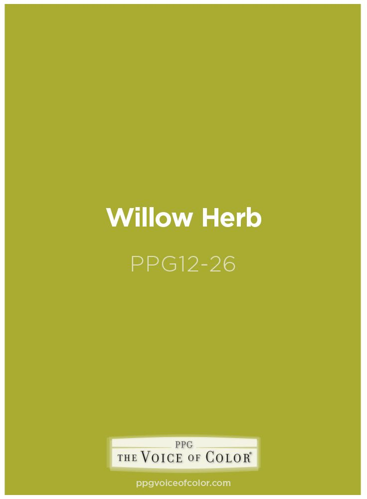 70's inspired lime green paint color willow herb ppg17-26ppg