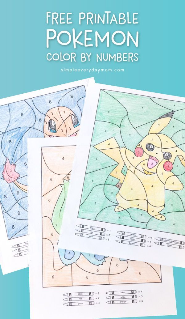 Photo of 3 Free Pokemon Color By Number Printable Worksheets
