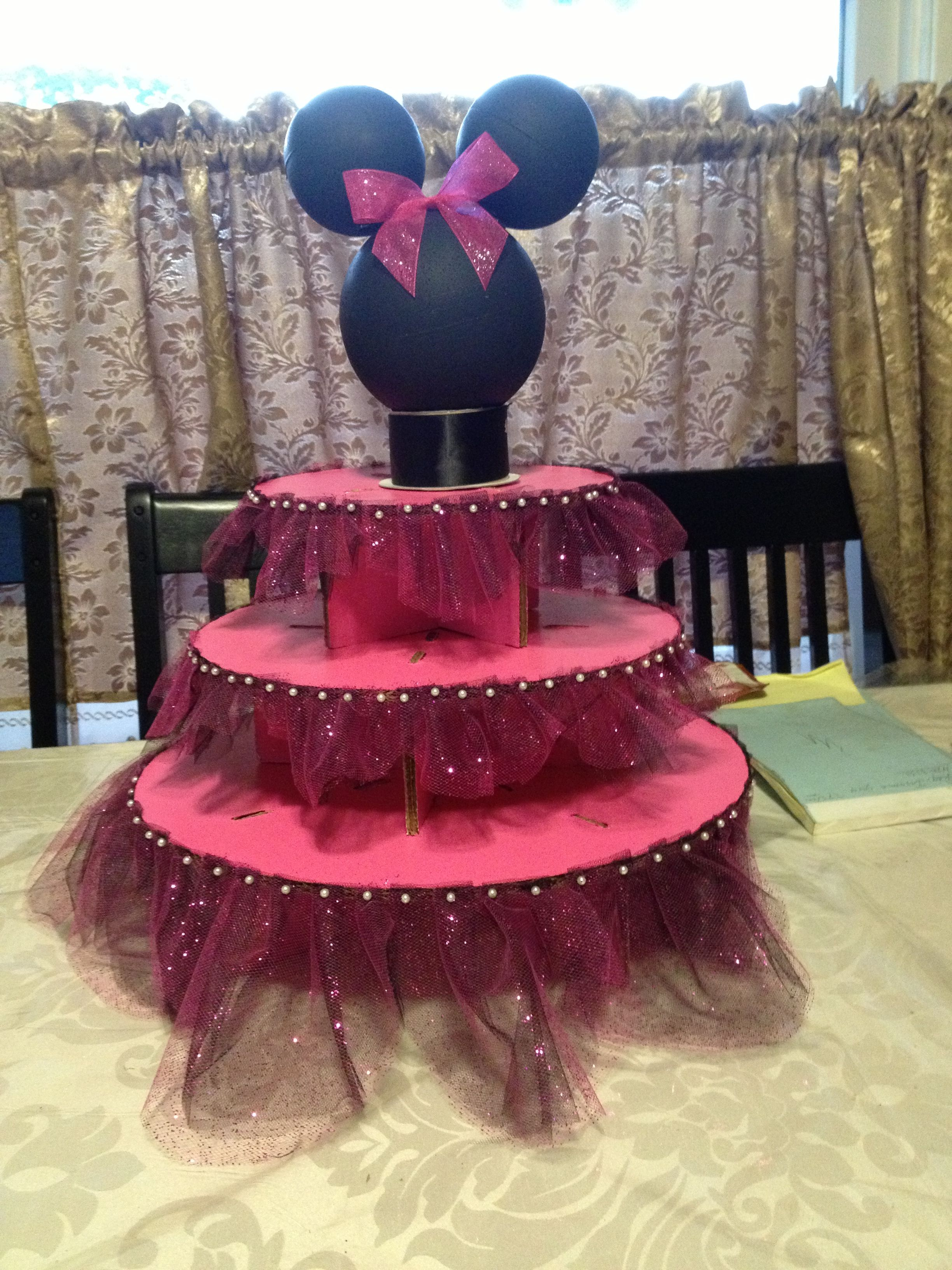 Minnie Mouse cake stand DIY PARTY DECORATIONS Pinterest