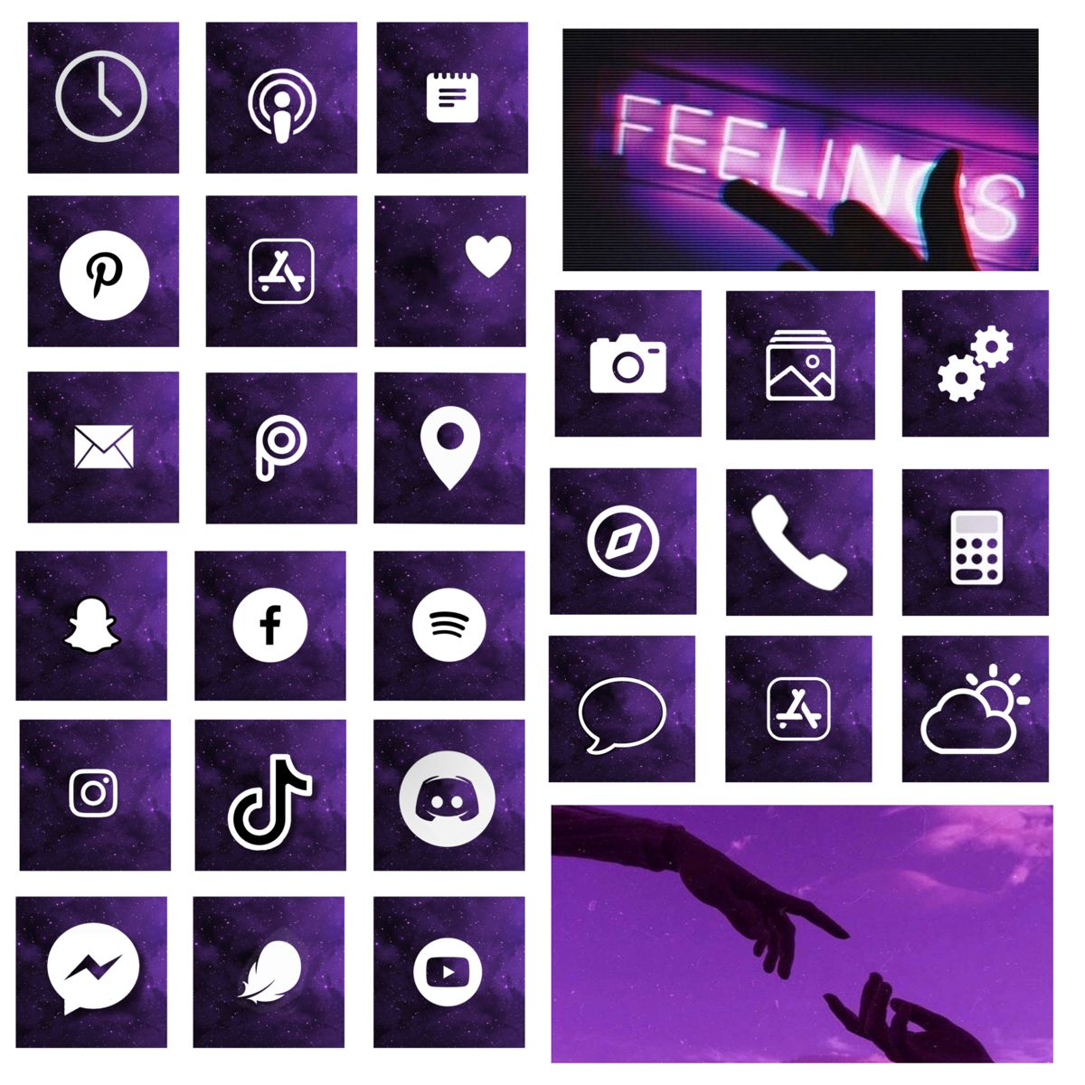 Galaxy Purple Aesthetic App Covers Icons In 2020 Purple Wallpaper Iphone Purple Aesthetic Pretty Wallpaper Iphone